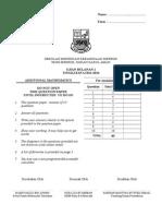 Ujian Bulanan 1 Matematik Tambahan Tingkatan 5