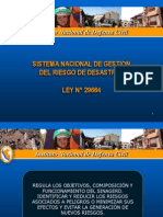 Sinagerd Ley 29664LEY DEL SISTEMA NACIONAL DE DEFENSA CIVIL