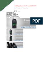BFDX Dual Band Dual Display Dual Receiver 2 Way Radio BF-600UV