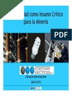 Electricidad Para La Minería - G.barrenechea.