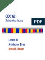 CISC322_03_ArchitectureStyles