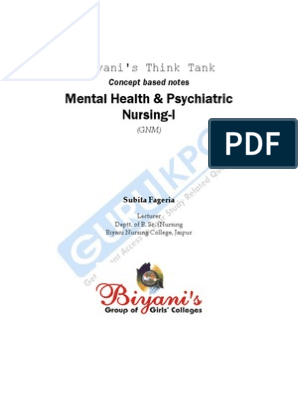 Mental Health of GNM | Psychiatric And Mental Health Nursing