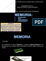 Memoria - arquitectura de computadoras