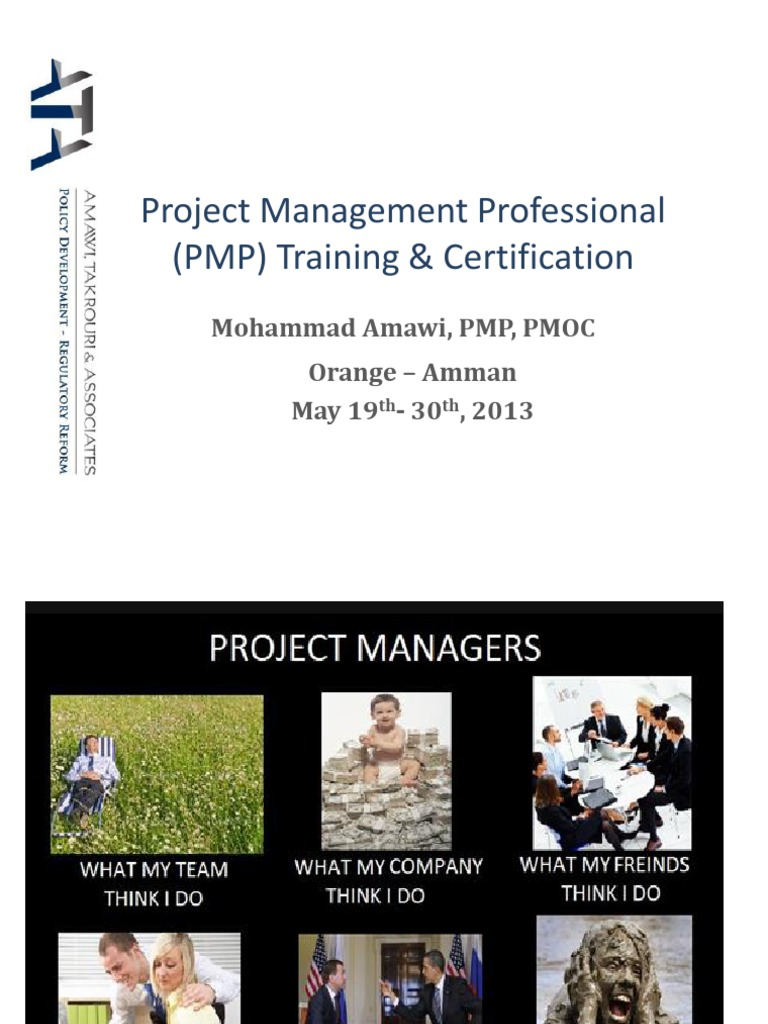 Project Management Professional Pmp Training New Project