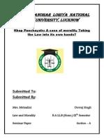 Rough Draft Devraj Singh 49 Law & Morality