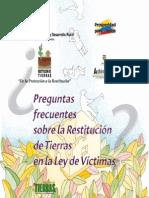 Preguntas Frecuentes Sobre La Restitución de Tierras en La Ley de Víctimas (1)
