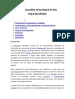 La Planeación Estratégica en Las Organizaciones