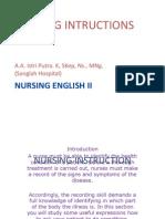 Nursing Instruction 2003