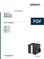 OMRON NJ CPU Unit Sofware User Manual