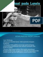 Komunikasi Pada Lansia