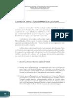 Definición, Perfil y Funcionamiento de La Tutoría