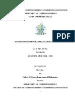 Algorithm and Programming Lab Manual 2014 15.doc
