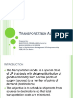 -Lecture 9. Transportation and Assignment Models