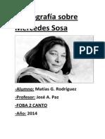 Monografía Sobre Mercedes Sosa