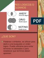 OPERADORES LOGICOS O BOOLEANOS.ppt