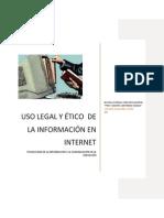 Uso Legal y Etico Del Internet
