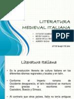 Literatura Medieval Italiana