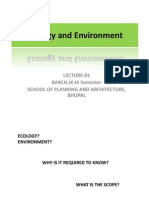 Lecture 1 Ecology and Environment- Introduction and Quiz.