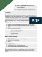 Acadmic Report Generating System