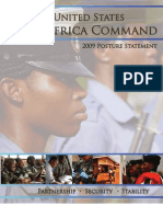 Africa Command 2009 Posrure Statement
