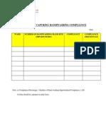 Matrix for Capturing Handwashing Compliance