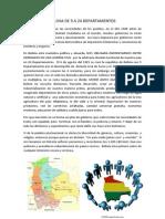 Bolivia de 9 a 24 Departamentos