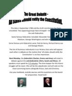 Debating the Consitution
