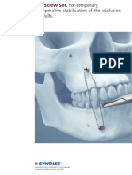 IMF Screw Set. for Temporary, Peri Operative Stabilisation of the Occlusion in Adults