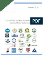 South Sudan CivilSocietyPositionStatementonthe NationalSecurityServiceBill