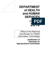 ONC Budget Justification