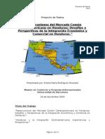 Repercusiones del Mercado Común Centroamericano en Honduras