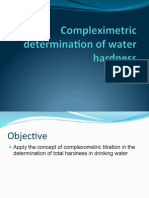 1-Compleximetric Determination of Water Hardness