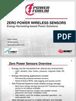 Zero Power Wireless Sensors