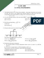 CE 2000 GATE Question Paper