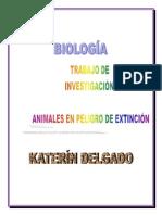 Animales en Peligro de Extincion Biologia