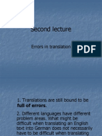 Errors in translation, part I