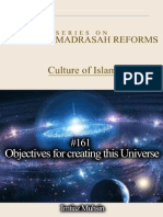 161 Objectives for Creating This Universe