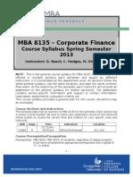 MBA 8135 Course Syllabus Spring 2013 Template
