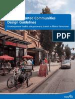 Transit Oriented Communities Design Guidelines