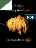 Recetario PDF de Salsas Para Pasta