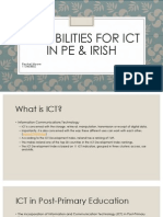Possibilities for ICT in PE & Irish