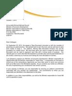 Mandate Letter - Economic Development