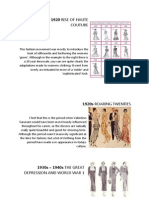 Fashion Movements from 1900 to 2000