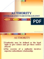 Authority, Centralization vs Decentralization