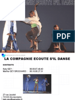 Brochure réalisée pour la compagnie Ecoute s'il Danse.