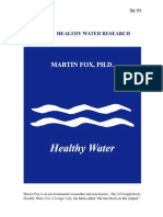 Healthy Water Booklet Martin Fox