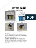 Water Test Scam