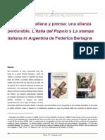 Inmigración italiana y prensa
