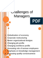 Challenges of Managers