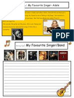 27406 Creative Writing My Favorite Singer 8 a1 Level